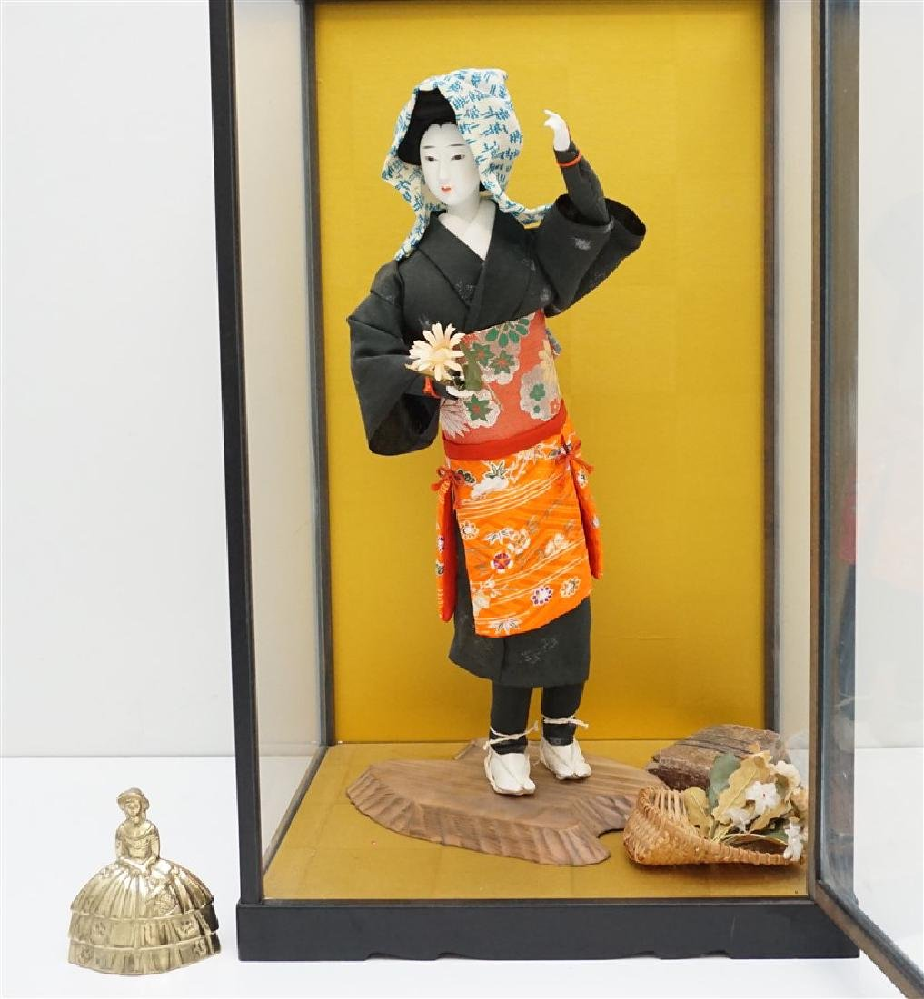 JAPANESE PORCELAIN DOLL W CASE - 6