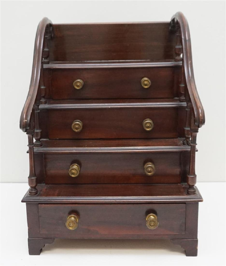 ENGLISH MINIATURE MAHOGANY CHEST