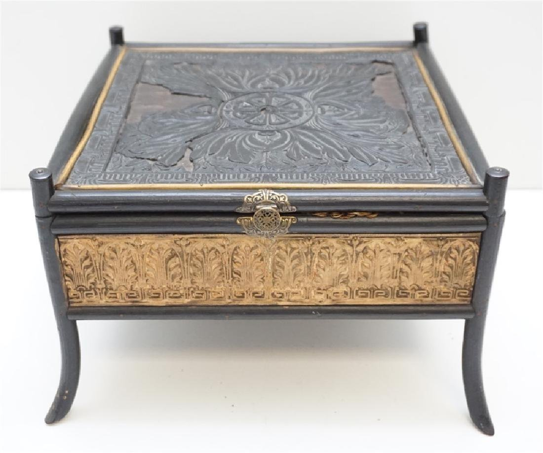 19th c. CHINOISERIE SEWING BOX