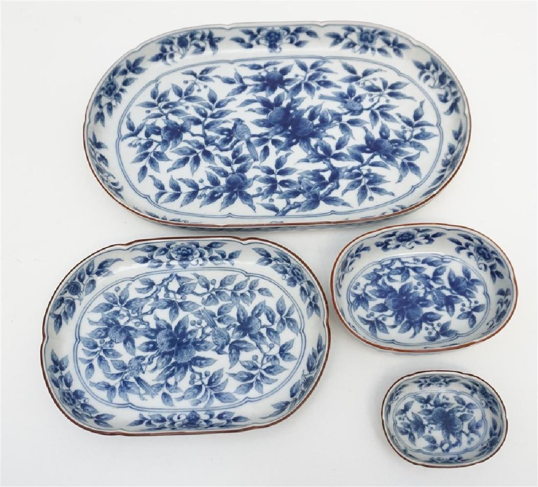 4 ARITA PORCELAIN STACKING TRAYS
