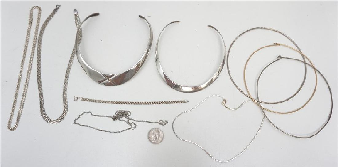 10 PC STERLING SILVER + - 7