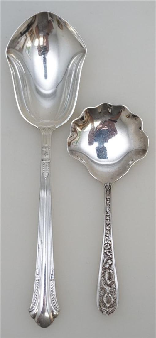 2 AMERICAN STERLING SERVING SPOONS