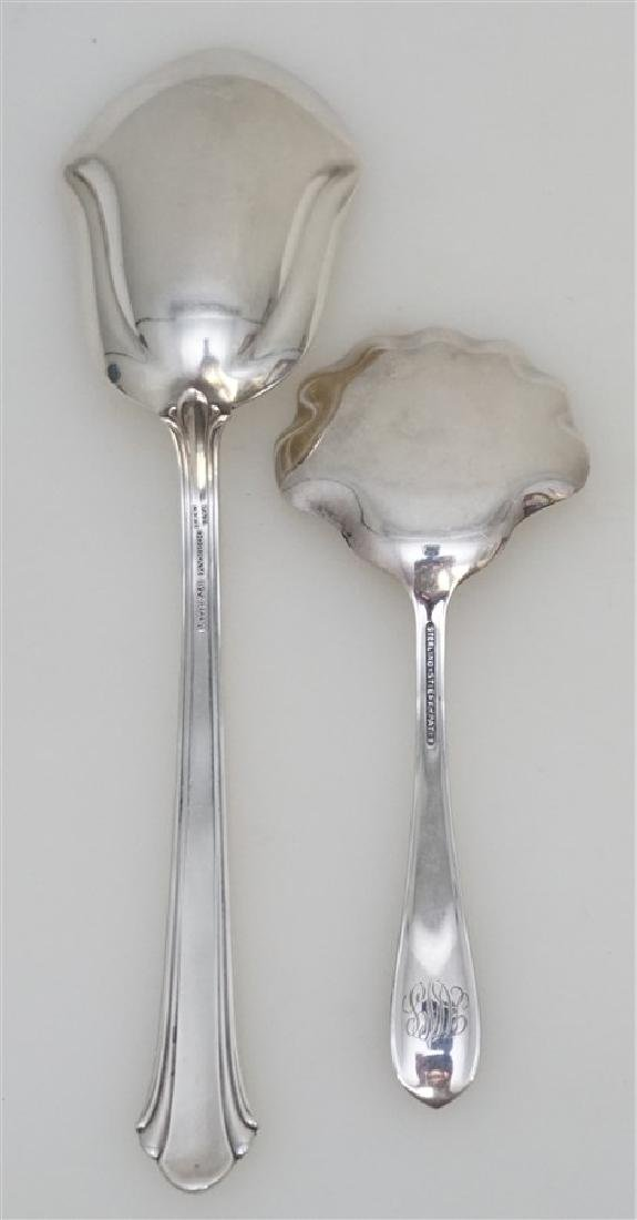 2 AMERICAN STERLING SERVING SPOONS - 3