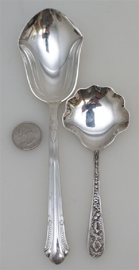 2 AMERICAN STERLING SERVING SPOONS - 6