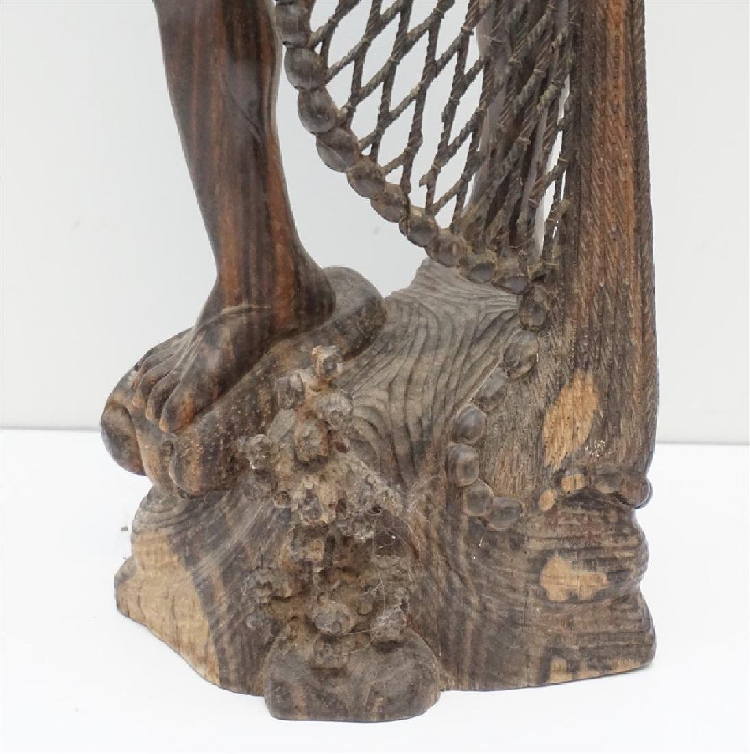 LARGE SONO WOOD CARVED FISHERMAN - 4