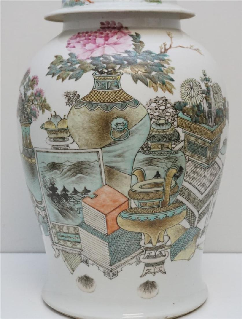 LARGE ANTIQUE CHINESE FAMILLE ROSE JAR - 3