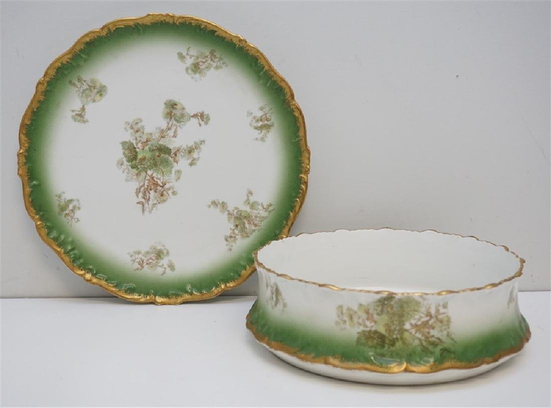 LARGE LIMOGES PUDDING BOWL W UNDERPLATE - 2