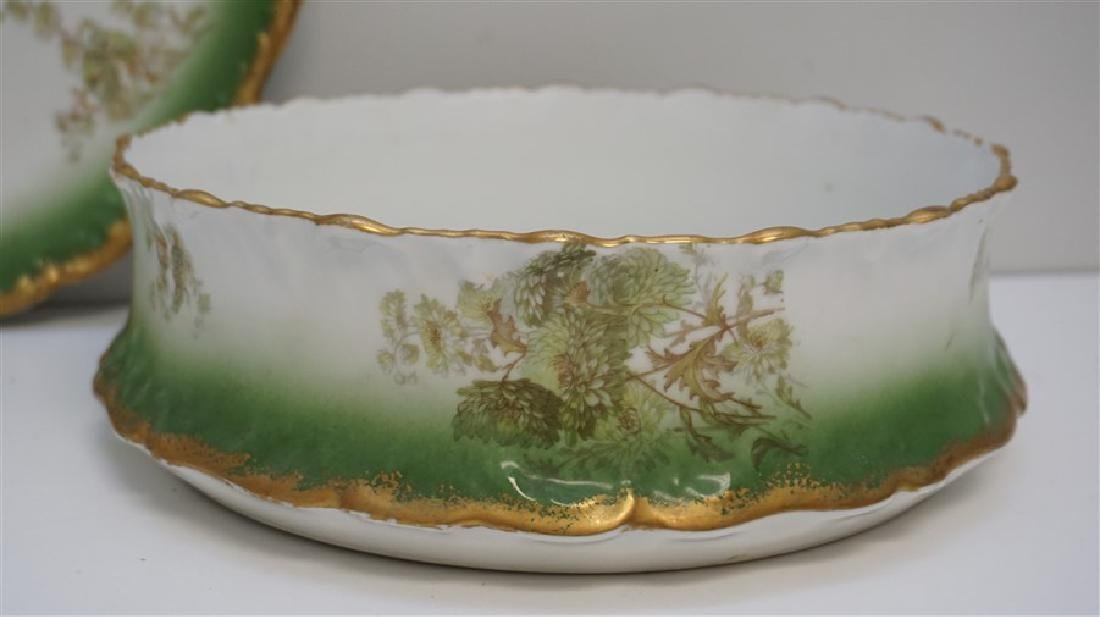 LARGE LIMOGES PUDDING BOWL W UNDERPLATE - 4