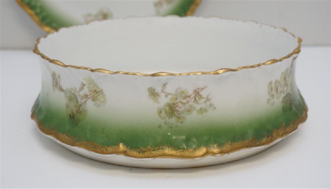 LARGE LIMOGES PUDDING BOWL W UNDERPLATE - 5