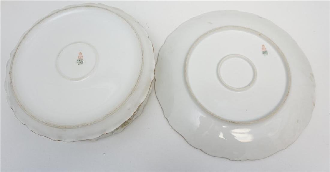 LARGE LIMOGES PUDDING BOWL W UNDERPLATE - 6