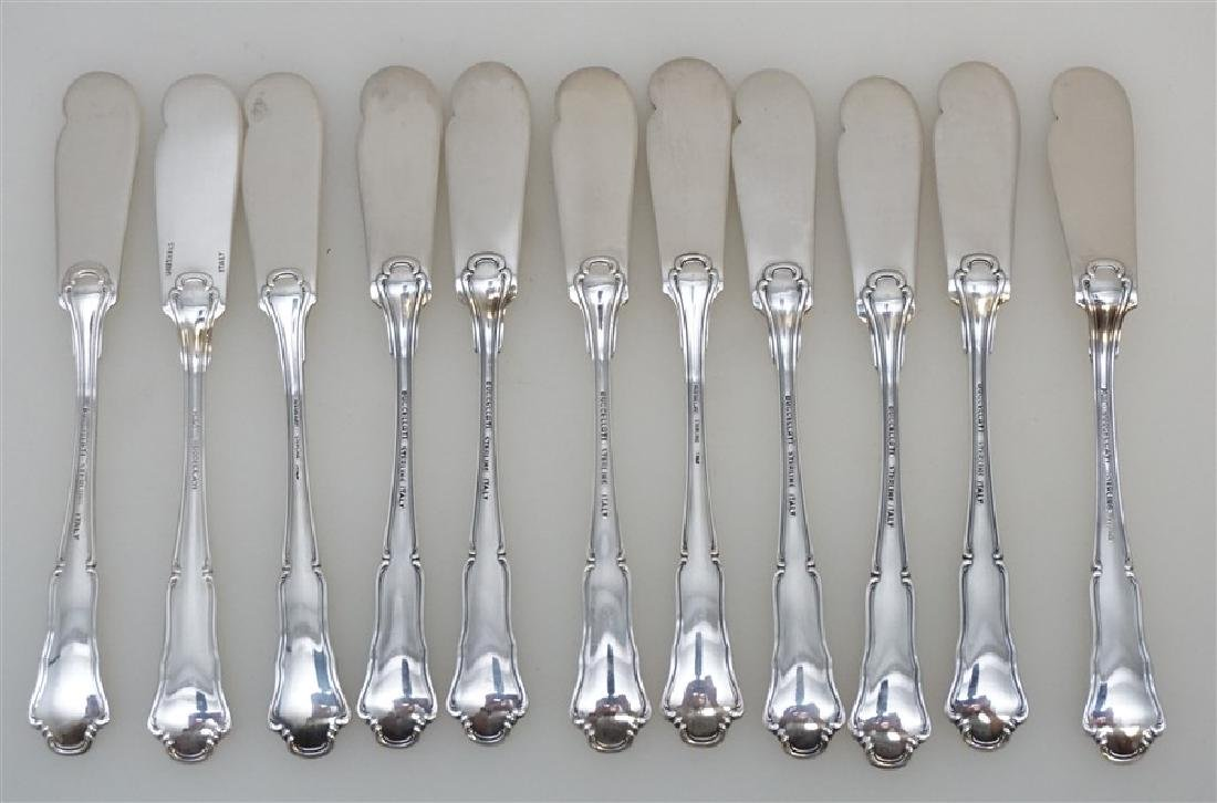 11 BUCCELLATI SAVOY STERLING BUTTER SPREADER - 3