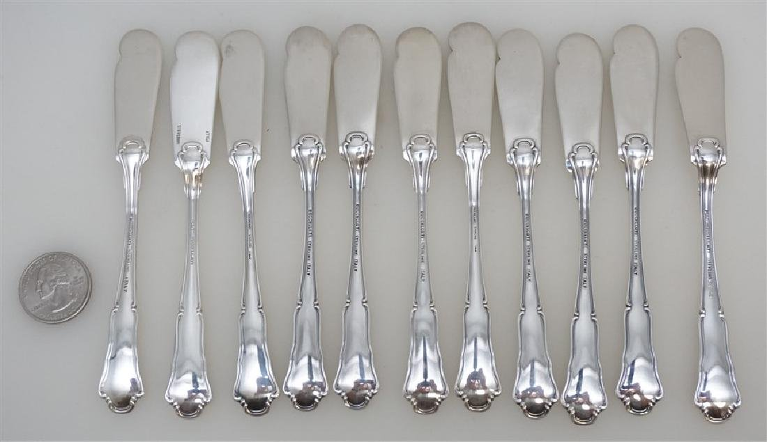 11 BUCCELLATI SAVOY STERLING BUTTER SPREADER - 5