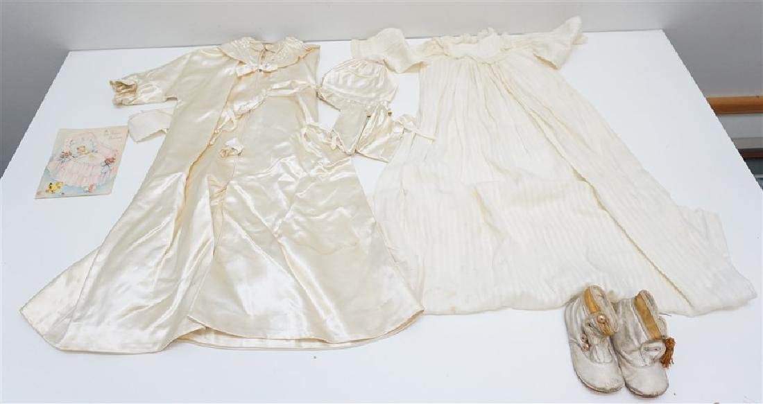 2 ANTIQUE BABY CHRISTENING GOWNS