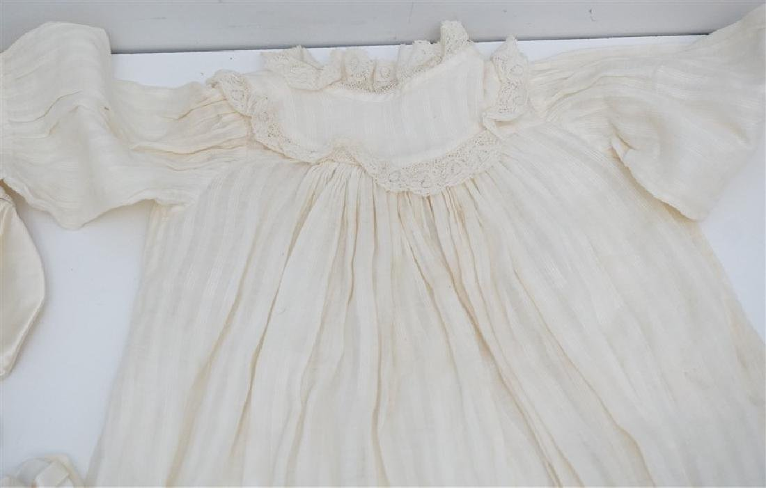 2 ANTIQUE BABY CHRISTENING GOWNS - 3