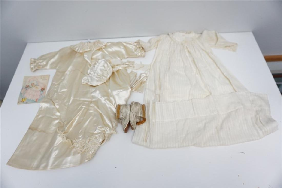 2 ANTIQUE BABY CHRISTENING GOWNS - 7
