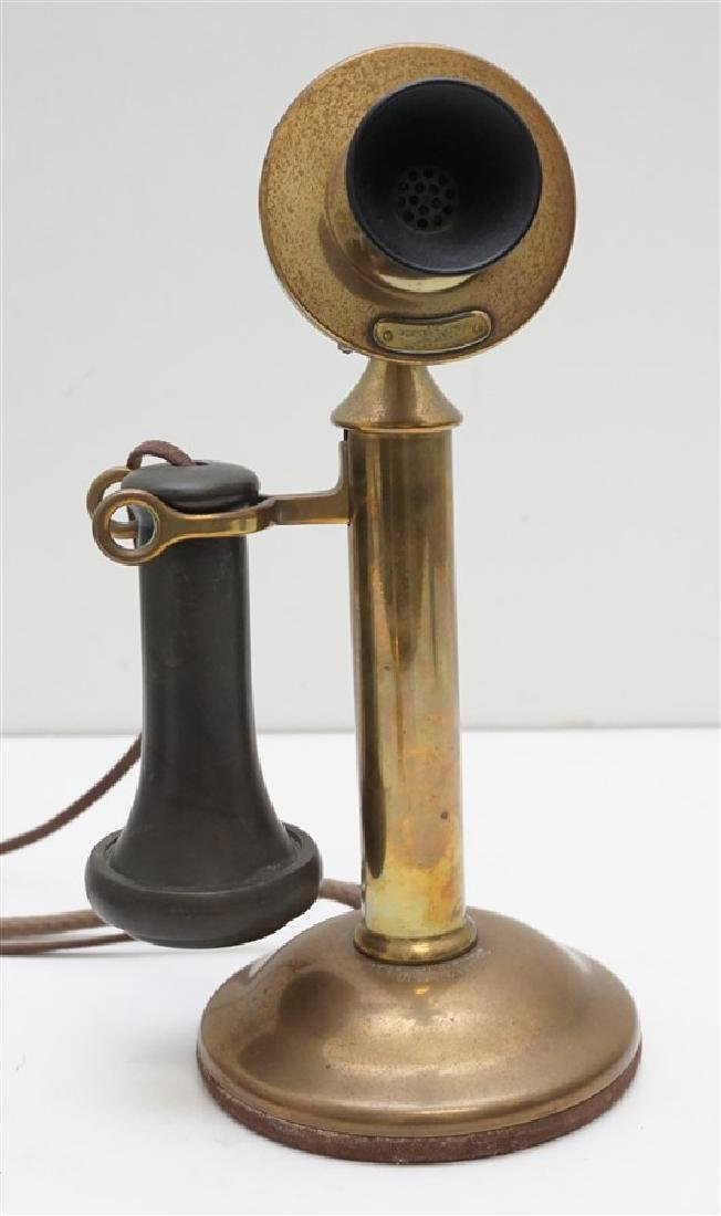 ANTIQUE WESTERN ELECTRIC BRASS PHONE