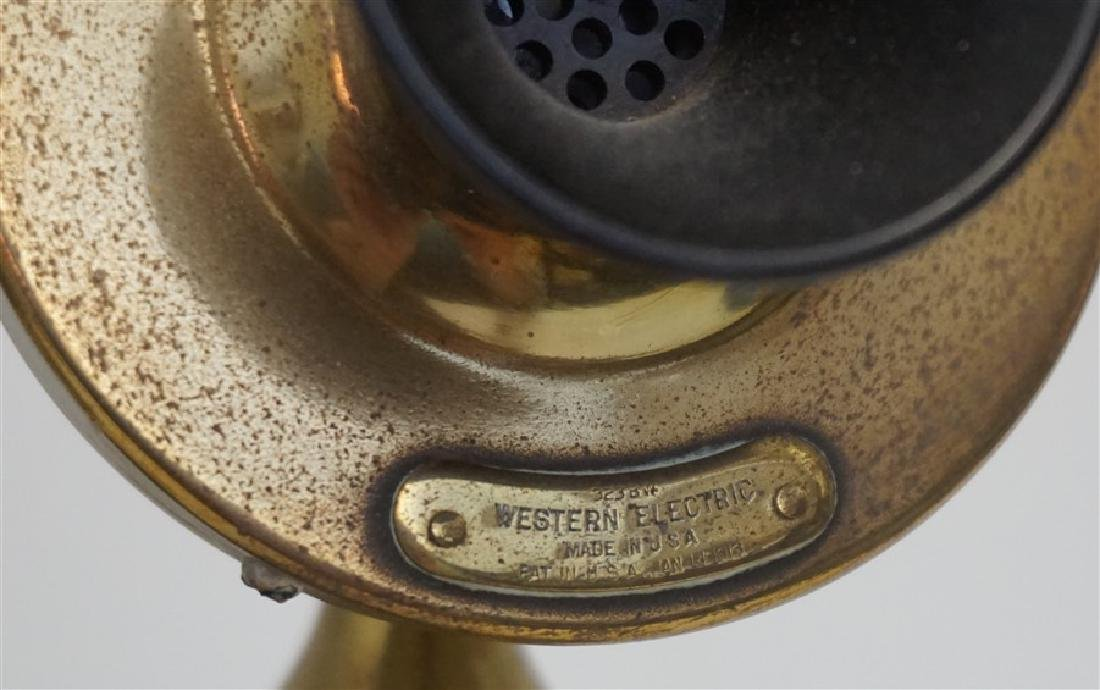 ANTIQUE WESTERN ELECTRIC BRASS PHONE - 3