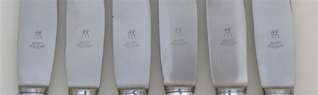 6 BUCCELLATI SAVOY STERLING DINNER KNIVES - 3