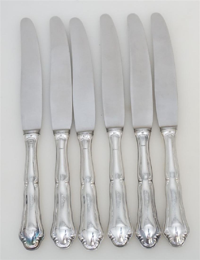 6 BUCCELLATI SAVOY STERLING DINNER KNIVES - 4
