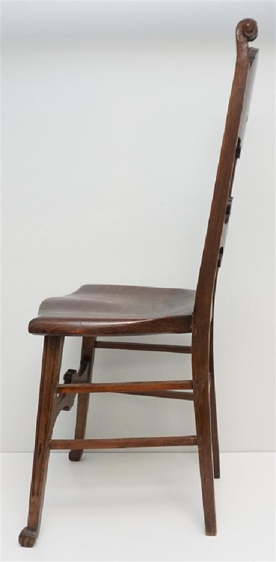 AMERICAN CARVED OAK NORTH WIND CHAIR c 1900 - 6