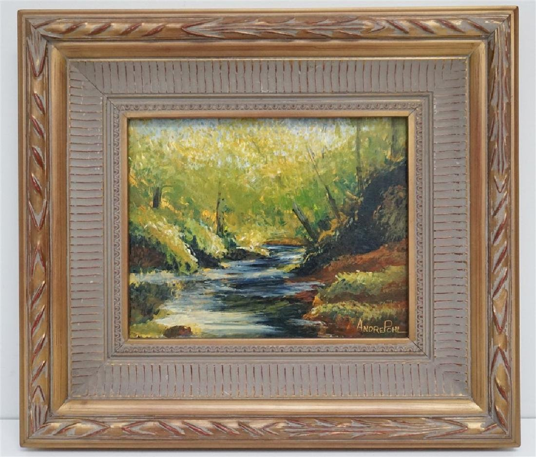 ANDRE POHL LANDSCAPE OIL PAINTING