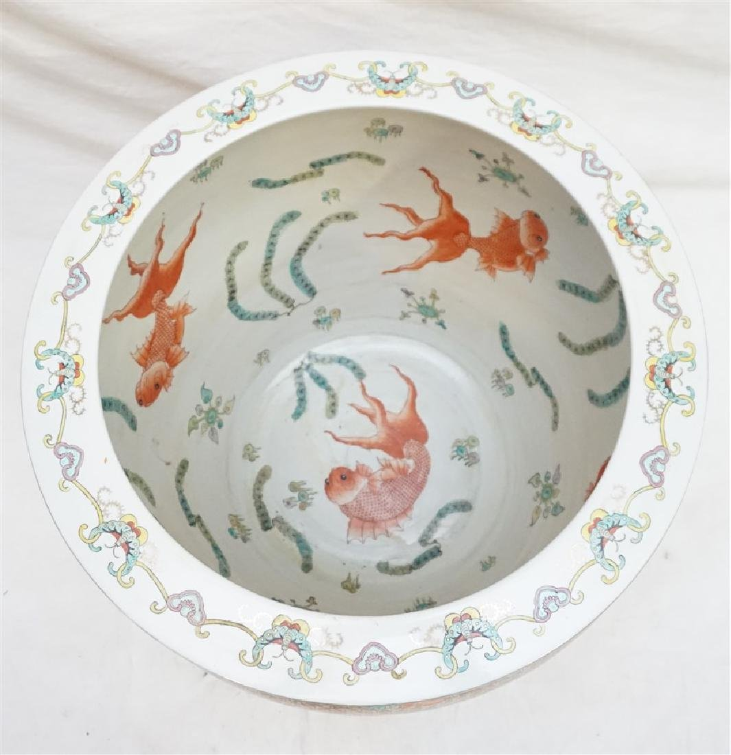 LARGE CHINESE EXPORT HUNT FISH BOWLS - 9
