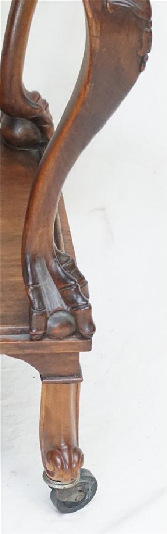 VICTORIAN PAW FOOT TEA CART - 7