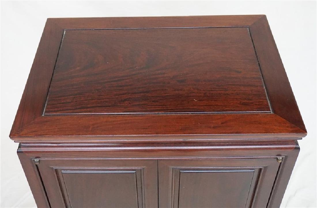 CHINESE ROSEWOOD SILVER CABINET - 3
