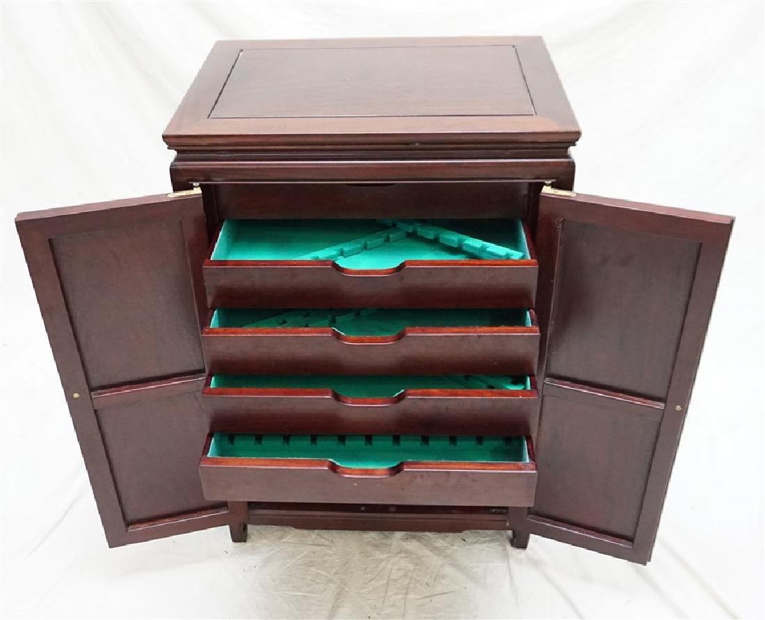 CHINESE ROSEWOOD SILVER CABINET - 5