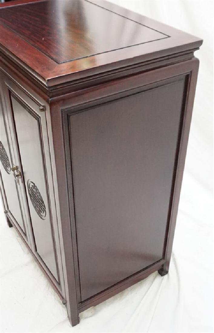 CHINESE ROSEWOOD SILVER CABINET - 7