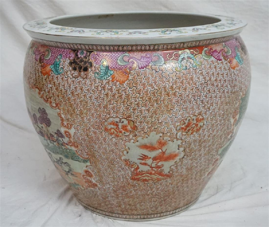 LARGE CHINESE EXPORT HUNT FISH BOWLS - 3