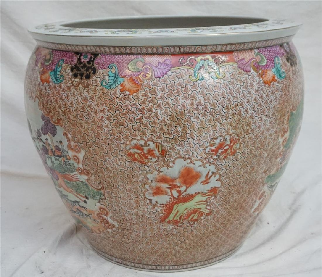 LARGE CHINESE EXPORT HUNT FISH BOWLS - 7