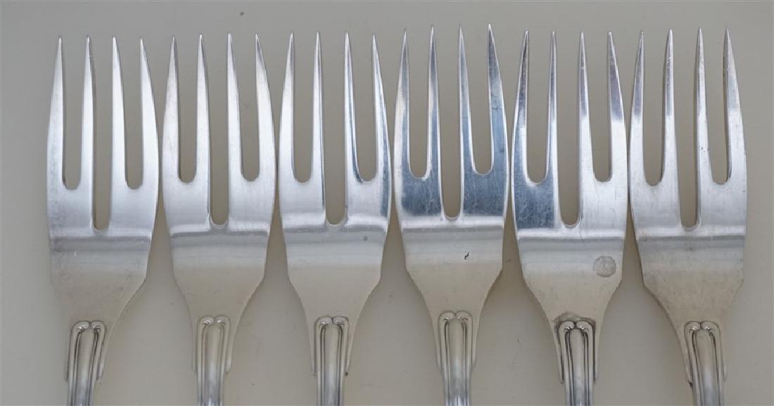 6 BUCCELLATI SAVOY STERLING FISH / SALAD FORKS - 3