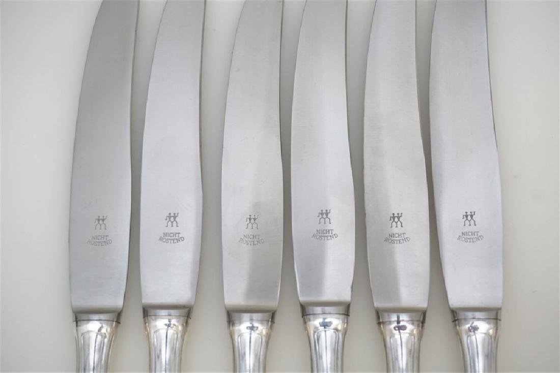 6 BUCCELLATI SAVOY STERLING DINNER KNIVES - 3