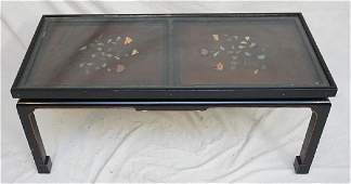 CHINESE INLAID LACQUER KANG TABLE