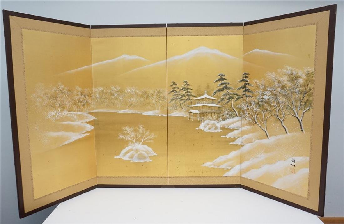 HAND PAINTED JAPANESE BYOBU SCREEN