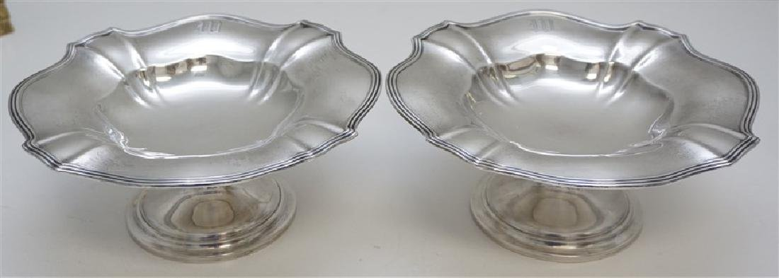 MATCHED PAIR GORHAM STERLING COMPOTES