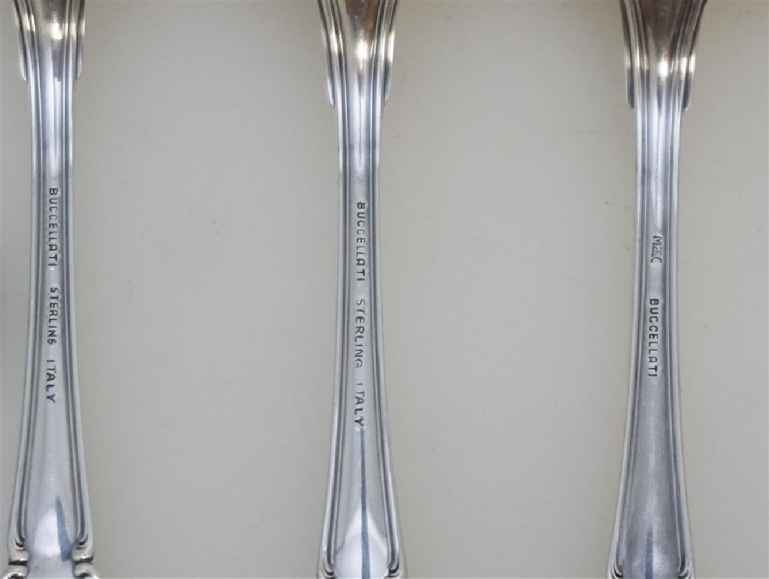 6 BUCCELLATI SAVOY STERLING SPOONS - 6