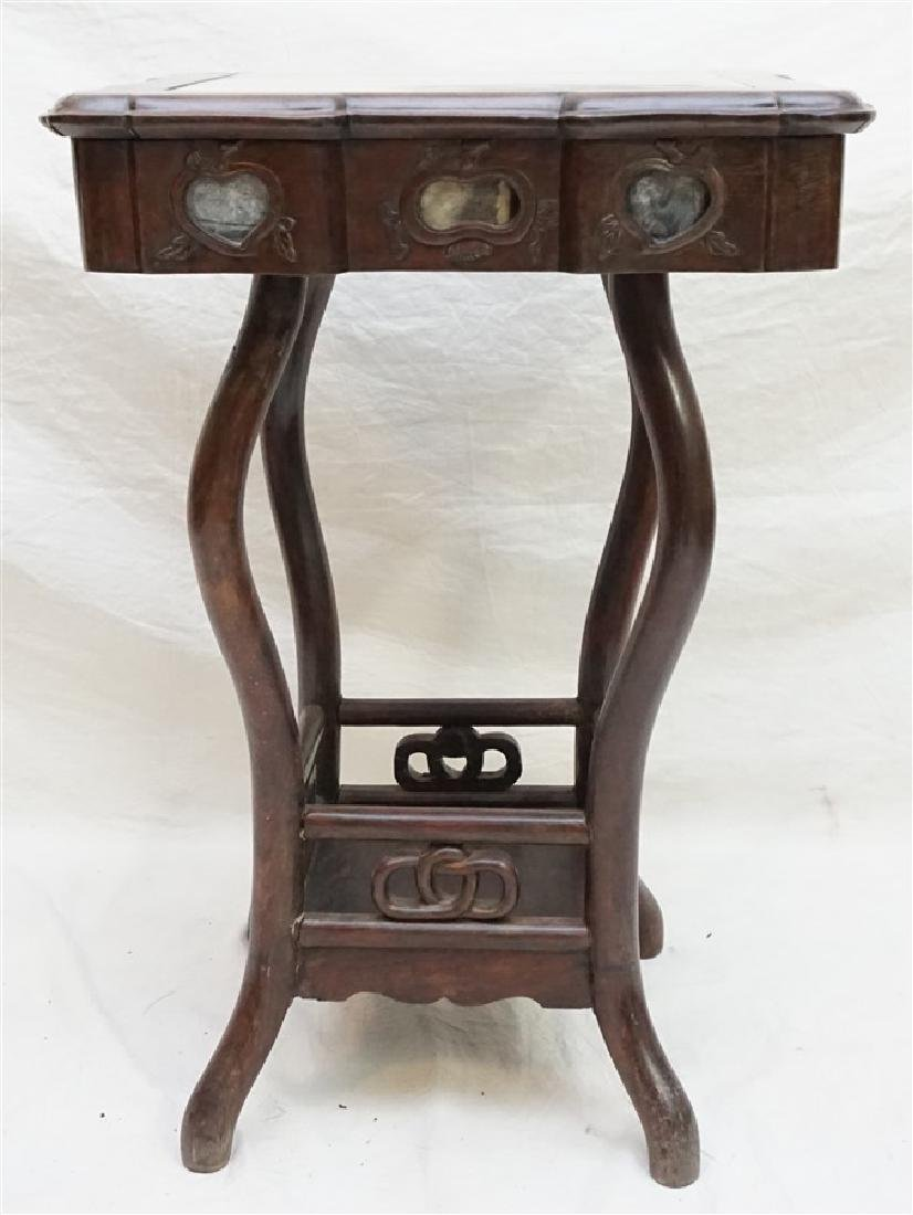 CHINESE INLAID HONGMU STAND - 2