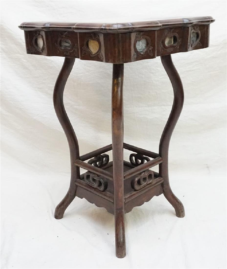 CHINESE INLAID HONGMU STAND - 4