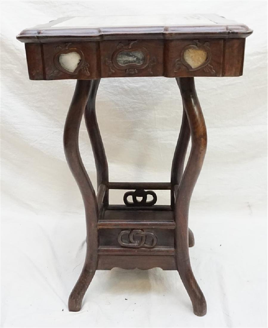 CHINESE INLAID HONGMU STAND - 5