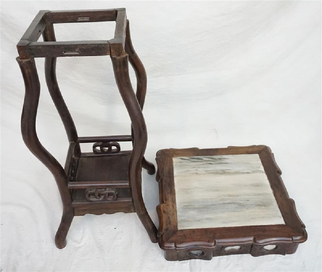 CHINESE INLAID HONGMU STAND - 6