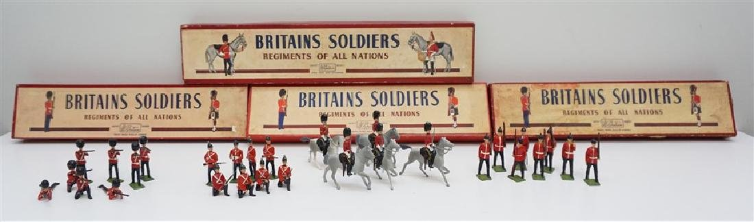 4 BOXES 1946-52 BRITAINS SOLDIERS