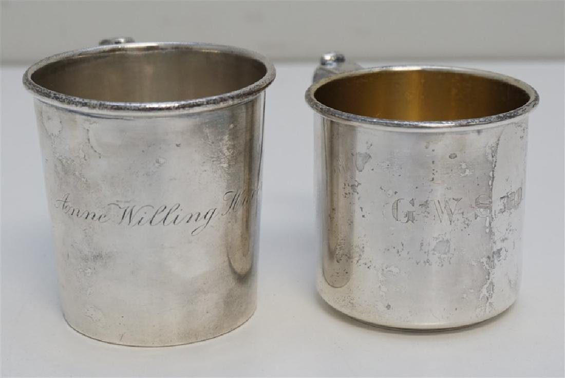 2 ANTIQUE STERLING CUPS / MUGS