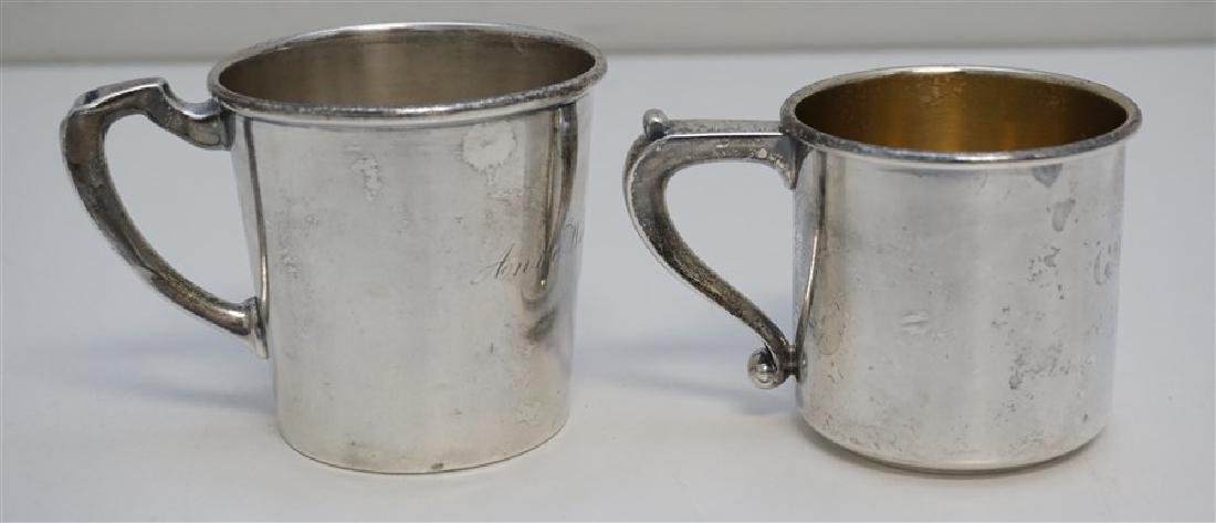 2 ANTIQUE STERLING CUPS / MUGS - 2