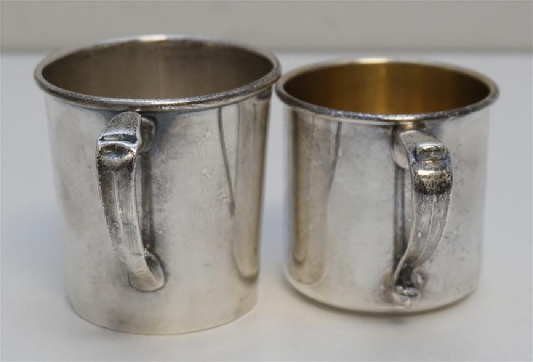 2 ANTIQUE STERLING CUPS / MUGS - 3