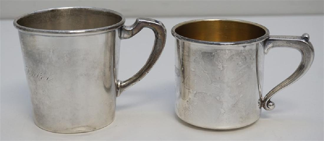 2 ANTIQUE STERLING CUPS / MUGS - 4