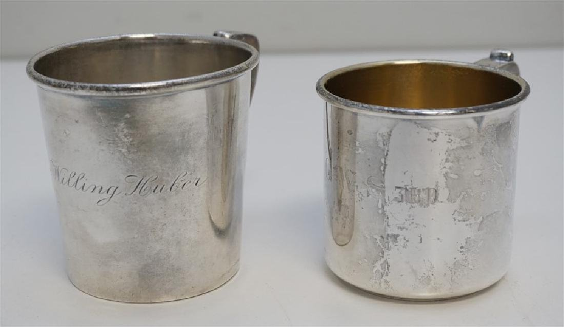 2 ANTIQUE STERLING CUPS / MUGS - 5