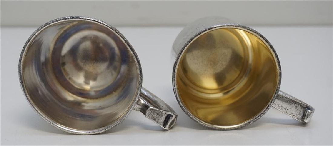 2 ANTIQUE STERLING CUPS / MUGS - 6