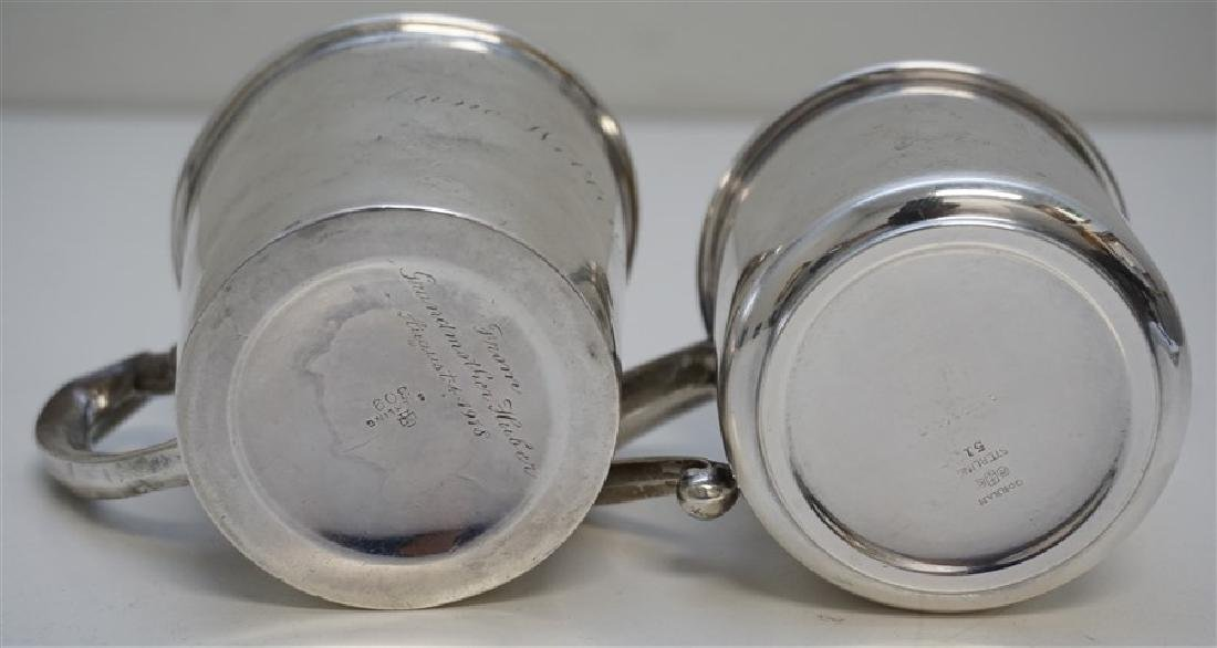 2 ANTIQUE STERLING CUPS / MUGS - 7